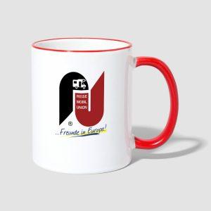 Tasse mit Reisemobilunion Logo