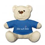 Kuschel Teddybär mit Motiv lebe mit liebe
